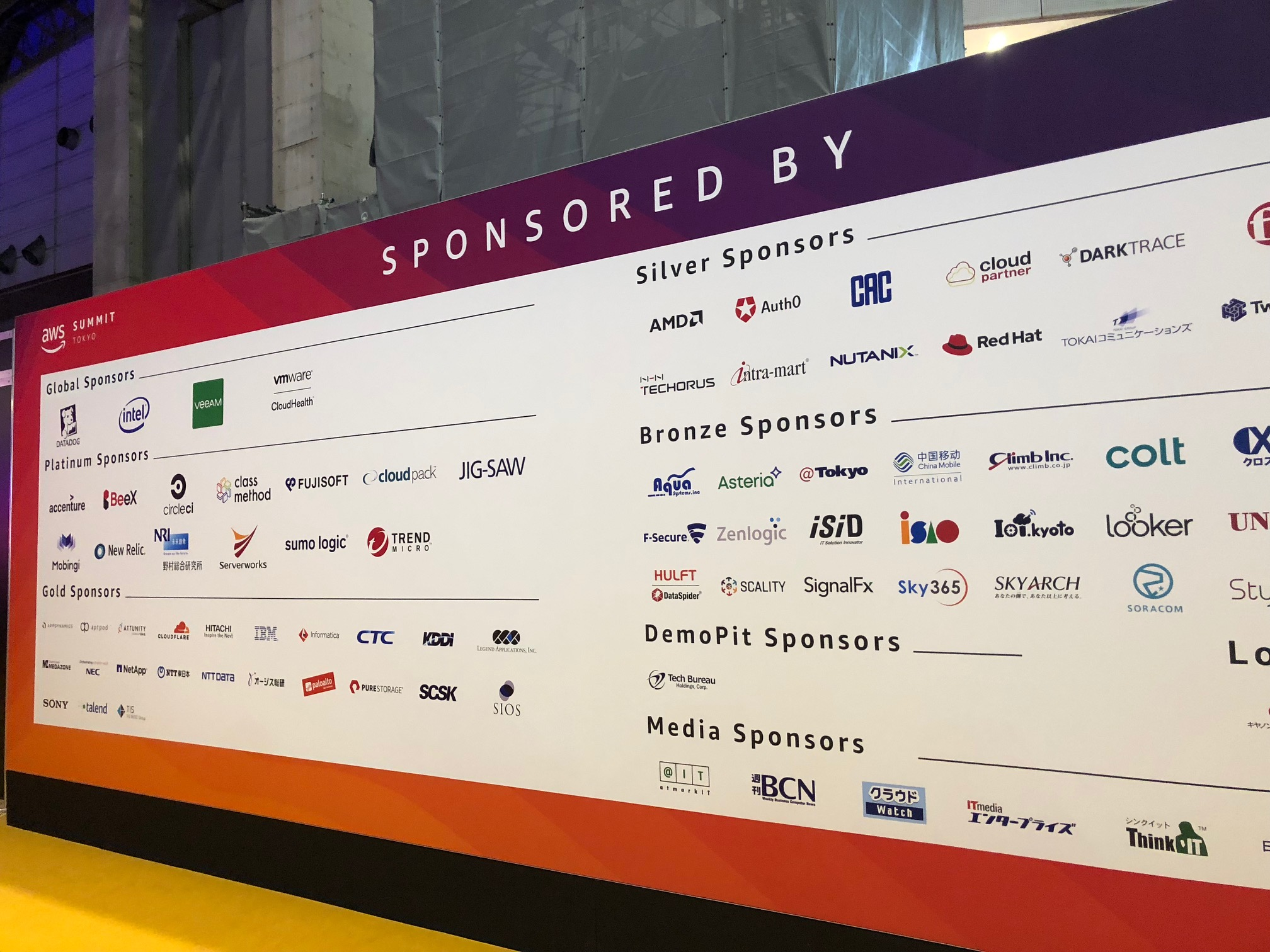 AWS Summit Tokyo 2019 終了しました!