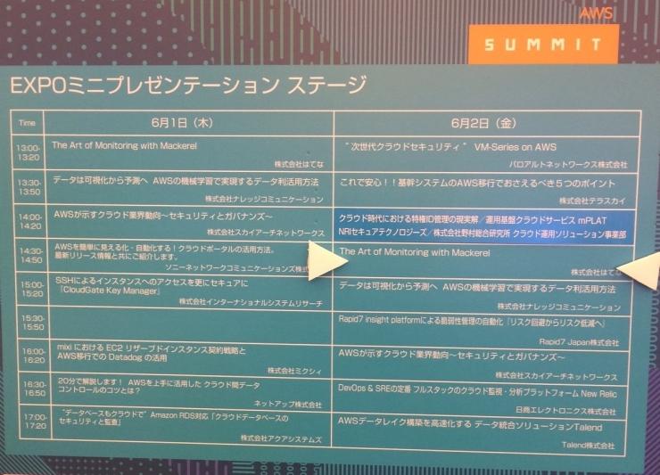 「AWS Summit Tokyo 2017」展示会最終日